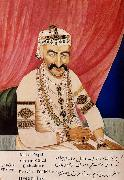 unknow artist Portrait of Maharaja Chandulal,Chief Minister of the Nizam of Hyderabad,Nawab Ali Khan,Asaf Jah Iv china oil painting reproduction