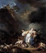 Anicet-Charles-Gabriel Lemonnier Apollo and Diana Attacking Niobe and her Children oil