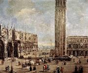 Antonio Stom View of the Piazza San Marco from the Procuratie Vecchie oil