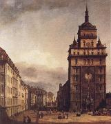 Bernardo Bellotto Square with the Kreuz Kirche in Dresden china oil painting reproduction