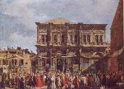 Canaletto The Feast Day of St Roch china oil painting reproduction