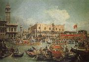 Canaletto The Bucintoro in Front of the Doges- Palace on Ascension Day china oil painting reproduction