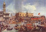 Canaletto The Bucintoro at the Molo on Ascension Day china oil painting reproduction