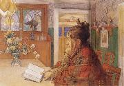 Carl Larsson Karin Readin china oil painting reproduction