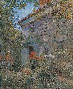 Childe Hassam Old House and Garden,East Hampton,Long Island china oil painting reproduction