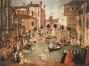 Gentile Bellini Miracle of the Cross on San Lorenzo Brdge,late 1500 china oil painting reproduction