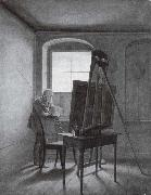 Georg Friedrich Kersting Caspar David Friedrich in Seinem Atelier china oil painting reproduction
