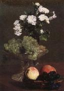 Henri Fantin-Latour Nature Morte aux Chrysanthemes et raisins china oil painting reproduction