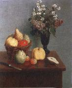 Henri Fantin-Latour Still life with Flowers and Fruit china oil painting reproduction