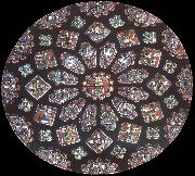 Jean Fouquet Rose window, northern transept, cathedral of Chartres, France china oil painting reproduction