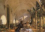 John Singer Sargent Breakfast in the Loggia china oil painting reproduction