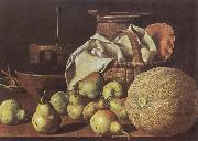Melendez, Luis Eugenio Still-Life with Melon and Pears china oil painting reproduction