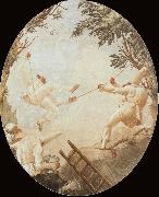 TIEPOLO, Giovanni Domenico Pulcinelle on the Tightrope china oil painting reproduction