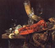 Willem Kalf Still Life with the Drinking-Horn of the Saint Sebastian Archers-Guild,Lobster and Glasses china oil painting reproduction