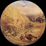 William Dexter Wheatfield with bird-s nest china oil painting reproduction