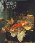 Abraham Hendrickz van Beyeren Coarse style life with lobster china oil painting reproduction