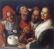 CAMPI, Vincenzo The Ricotta-eaters china oil painting reproduction