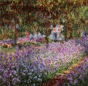 Claude Monet Iris Bed in Monet-s Garden china oil painting reproduction