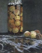 Claude Monet Masters old the peach glass china oil painting reproduction