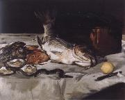 Edouard Manet Style life with carp and oysters china oil painting reproduction