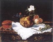 Edouard Manet Brioche with flower and fruits china oil painting reproduction