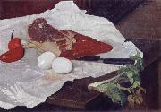 Felix Vallotton Still life with Meat and eggs china oil painting reproduction