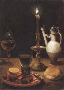 Gotthardt de Wedig Style life in candles certificate china oil painting reproduction
