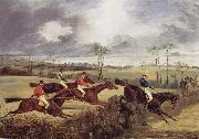 Henry Thomas Alken A Steeplechase, Near the Finish china oil painting reproduction