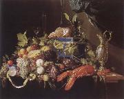 IL Pensionante del saraceni Muse ice national style life with fruits and lobster china oil painting reproduction