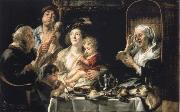 Jacob Jordaens How the old so pipes sang would protect the boys china oil painting reproduction