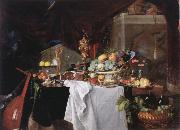 Jan Davidz de Heem Table with desserts china oil painting reproduction