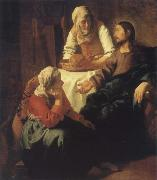 JanVermeer Christ in Maria and Marta china oil painting reproduction