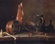 Jean Baptiste Simeon Chardin Uppige food with cook utensils china oil painting reproduction