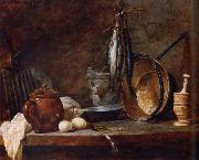 Jean Baptiste Simeon Chardin Lean food with cook utensils china oil painting reproduction