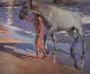 Joaquin Sorolla Y Bastida The bathing of the horse china oil painting reproduction