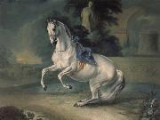 Johann Georg von Hamilton The women stallion Leal in the Levade china oil painting reproduction