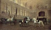 Julius von Blaas Morning working in the winter riding school china oil painting reproduction