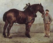 Otto Bache The working horse china oil painting reproduction