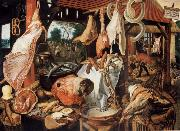 Pieter Aertsen Butcher sale state with flight nacb Agypten china oil painting reproduction