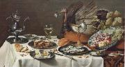 Pieter Claesz Style life with turkey china oil painting reproduction