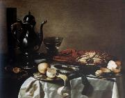 Pieter Claesz Style life with lobster and crab china oil painting reproduction