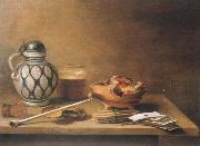Pieter Claesz Style life with stein china oil painting reproduction