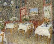 Vincent Van Gogh Interieur of a restaurant china oil painting reproduction