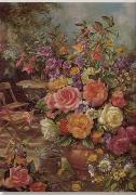 unknow artist Floral, beautiful classical still life of flowers.081 china oil painting reproduction