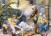 unknow artist Arab or Arabic people and life. Orientalism oil paintings  445 oil painting picture wholesale