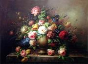 unknow artist Floral, beautiful classical still life of flowers.067 china oil painting reproduction