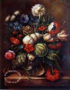 unknow artist Floral, beautiful classical still life of flowers.048 china oil painting reproduction