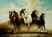 unknow artist Horses 041 china oil painting reproduction