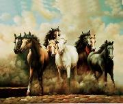 unknow artist Horses 046 china oil painting reproduction