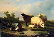 unknow artist Sheep 154 china oil painting reproduction